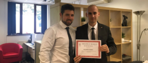 Employee of the Month August 2017 - Valentin