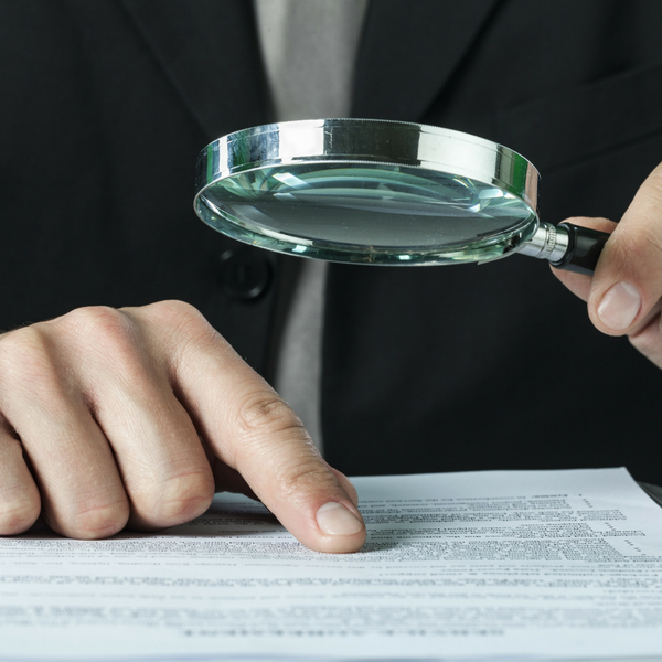 Auditing - magnifying glass
