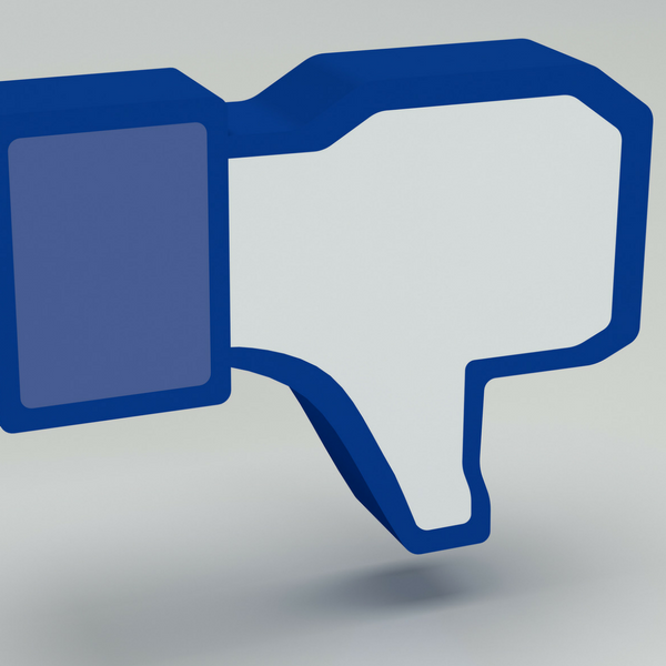 Social media thumbs down icon