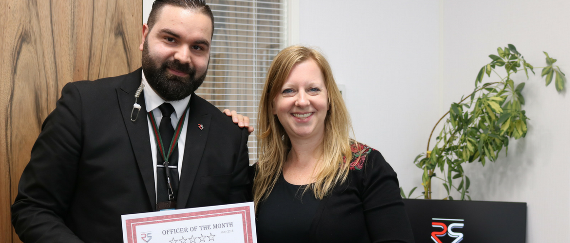 Officer of the month - May 2018
